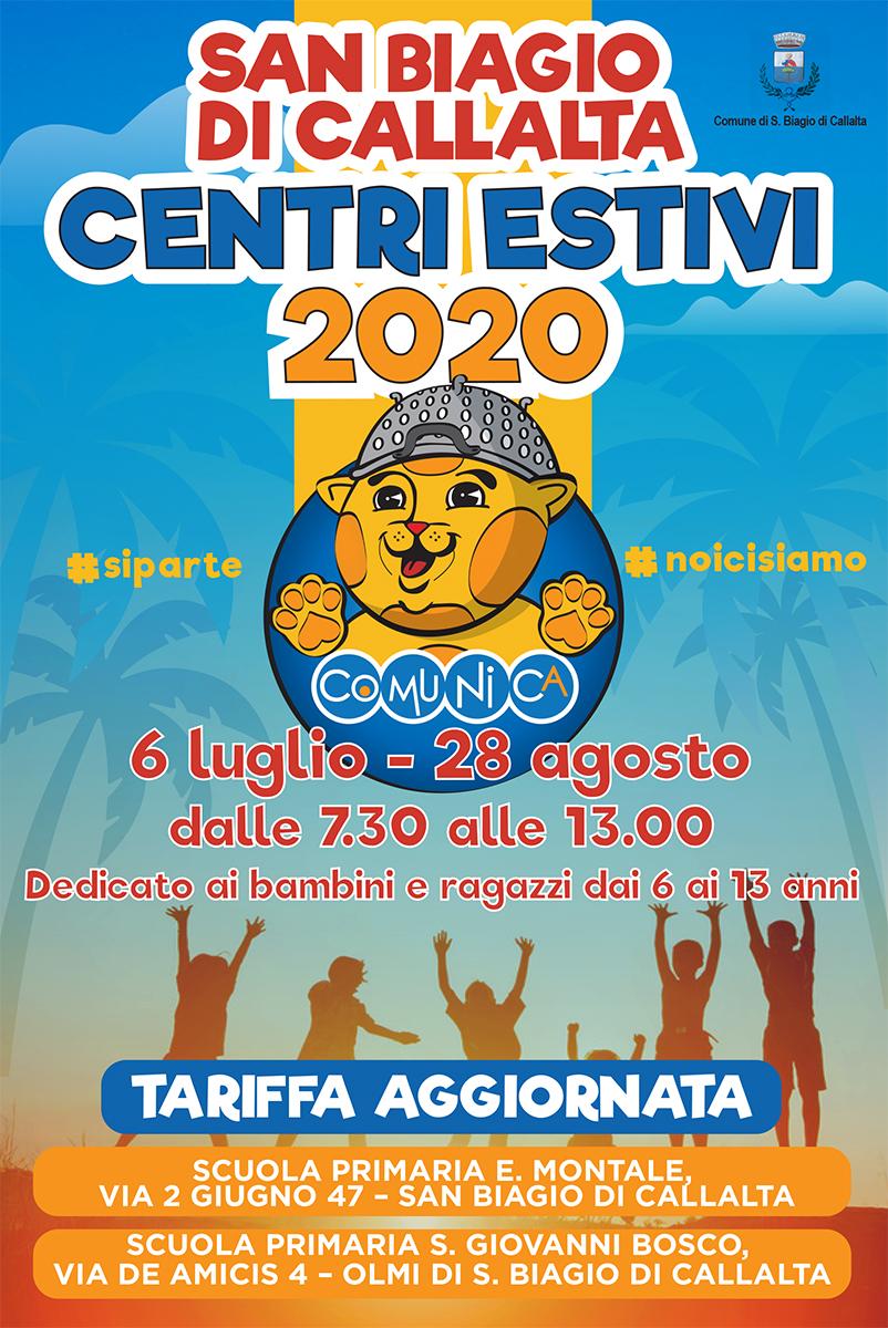 Flyer Centri Estivi San Biagio di Callalta 2020 - 01