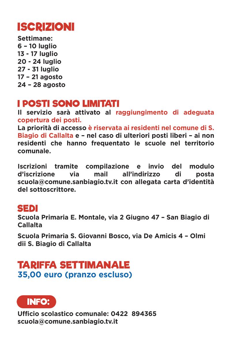 Flyer Centri Estivi San Biagio di Callalta 2020 - 02