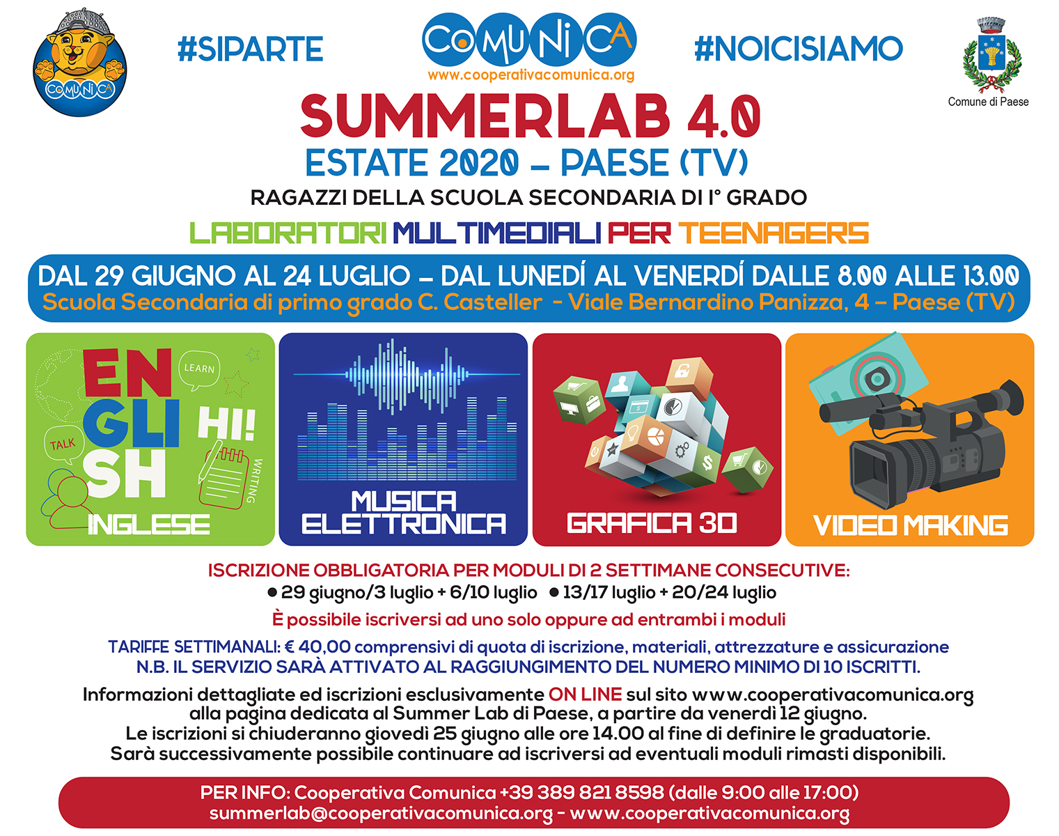 Flyer Summer Lab Paese 2020
