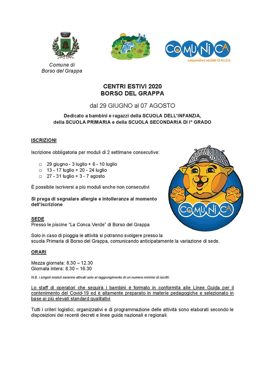 Informativa Centro Estivo Borso del Grappa 2020 - agg 01