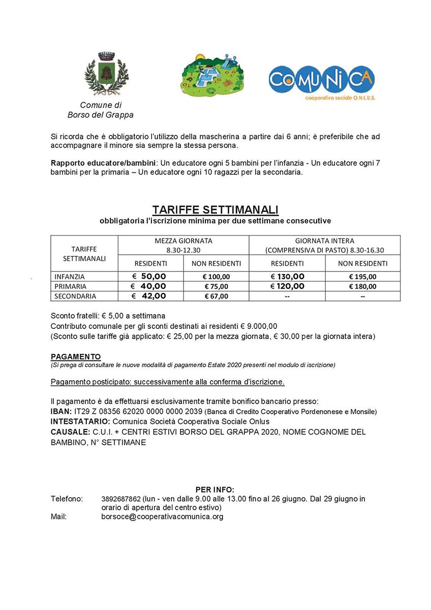 Informativa Centro Estivo Borso del Grappa 2020 - agg 02