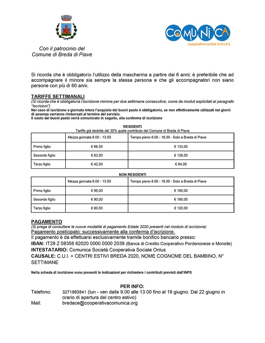 Informativa Centro Estivo Breda di Piave 2020 - 02