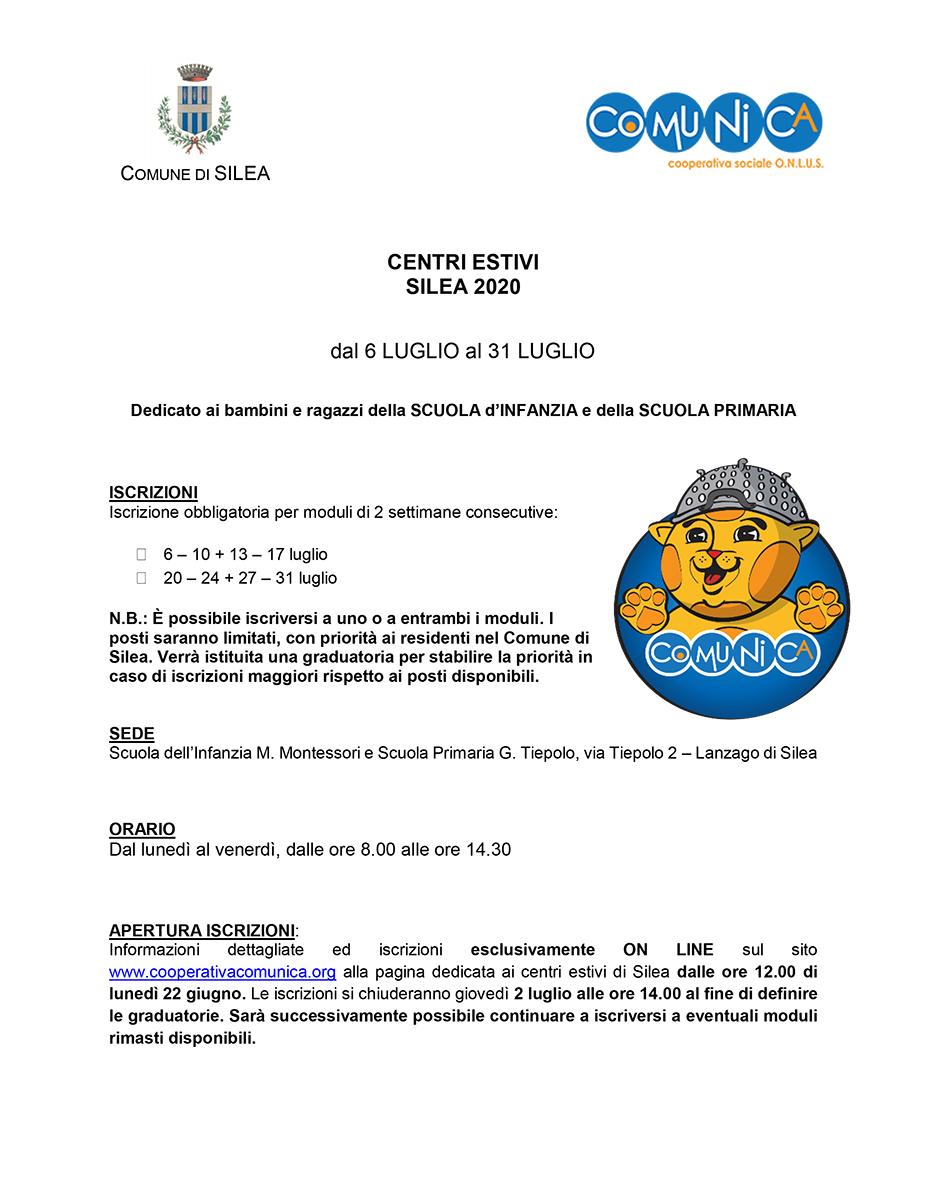 Informativa Centro Estivo Silea 2020 - 01