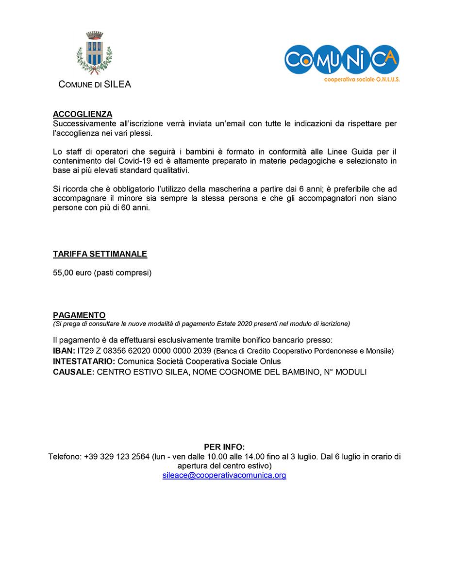 Informativa Centro Estivo Silea 2020 - 02