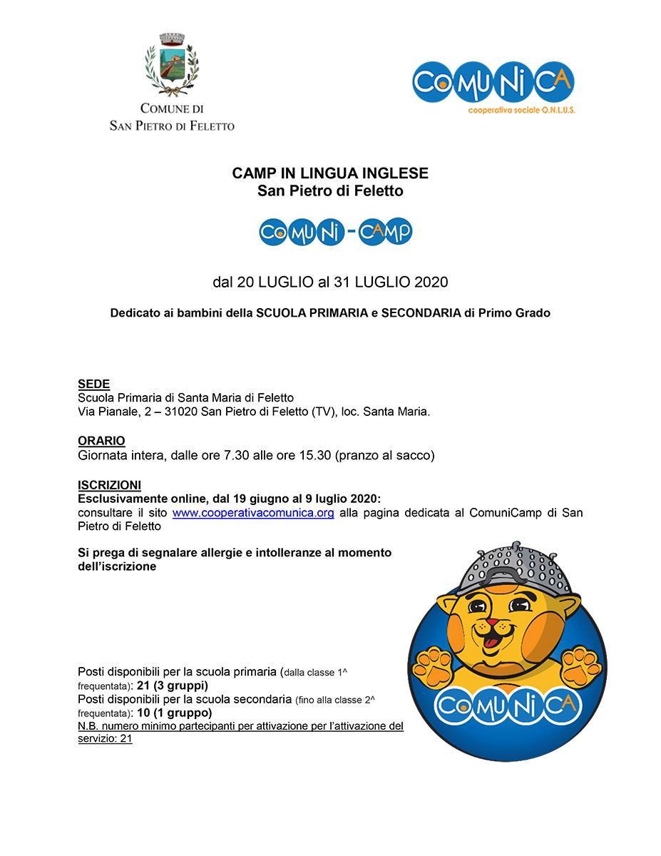 Informativa ComuniCamp San Pietro di Feletto 2020 - 01