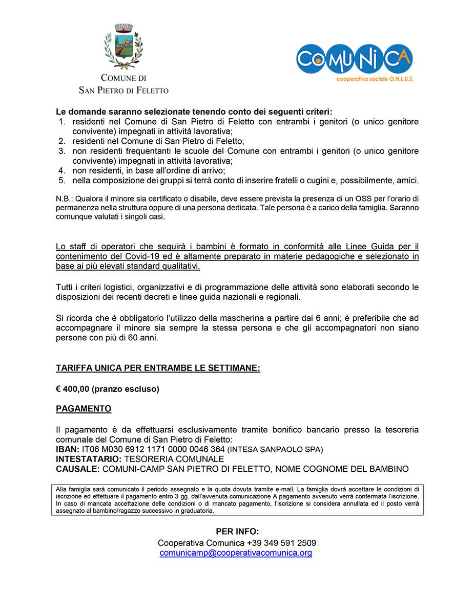Informativa ComuniCamp San Pietro di Feletto 2020 - 02